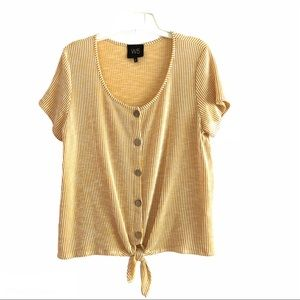 W5 short sleeve summer front button with ties